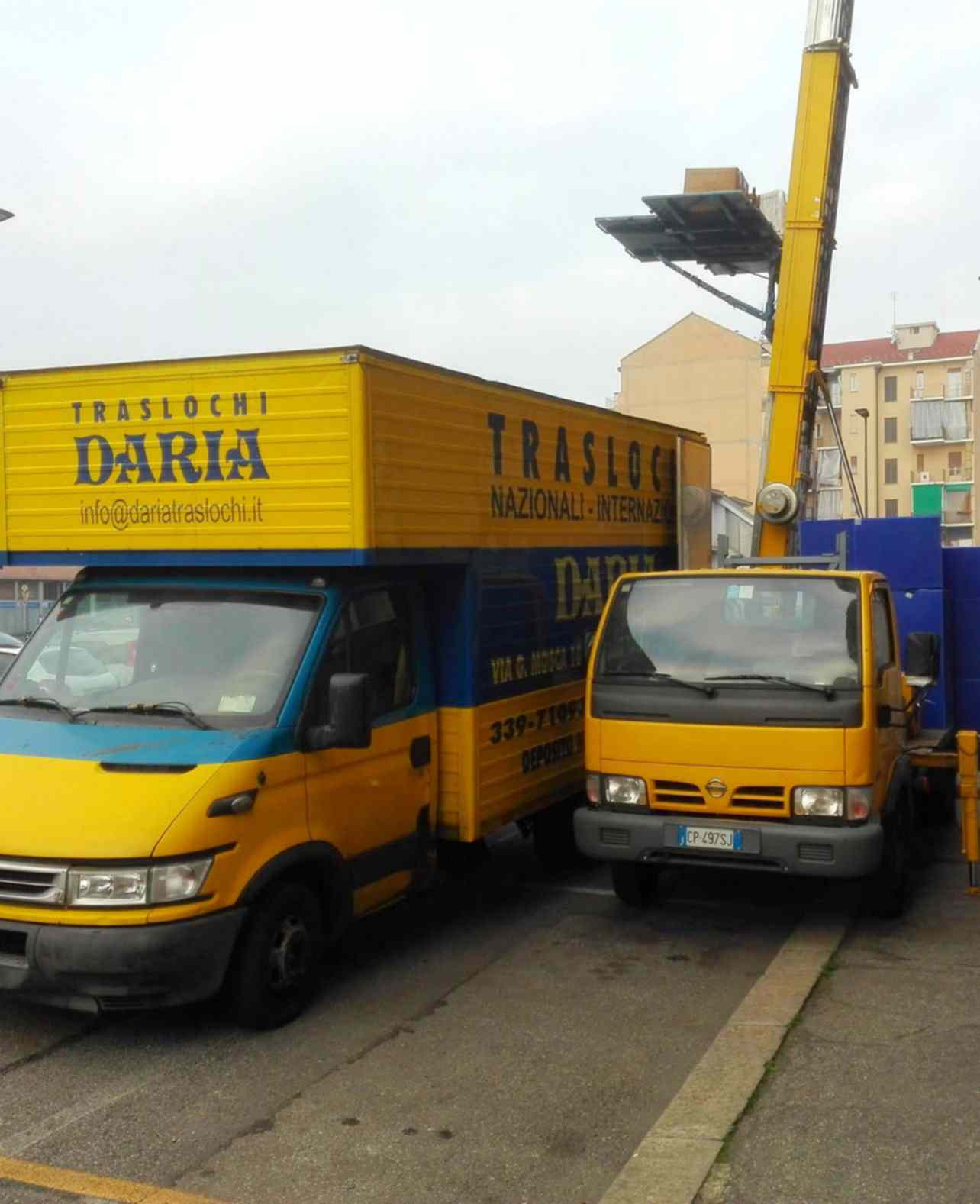 Traslochi Internazionali da Torino con automezzi Daria Traslochi Torino